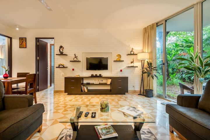 Garden Apartment - 12 min from Candolim beach