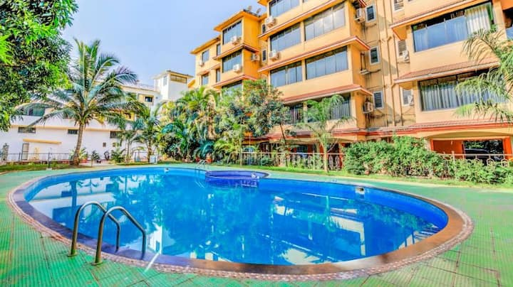 2 bed room apartment in Vagator close to beach