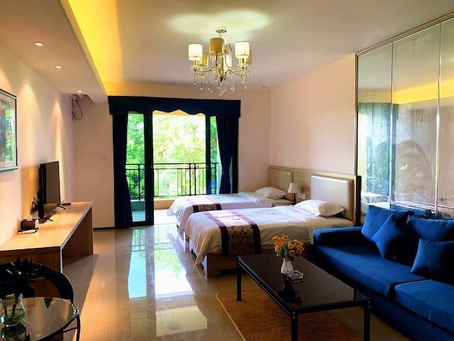 子母双床房阳江海陵岛恒大夏威夷英纳度假公寓环境优美近十里银滩旅游度假区