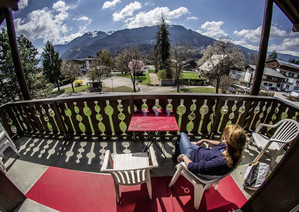 Springtime in Samoens from the front balcony.