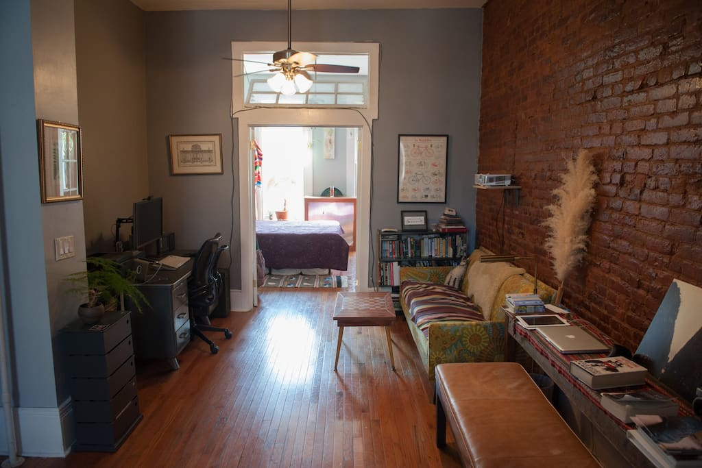 Sunny one bedroom Bed Stuy brownstone