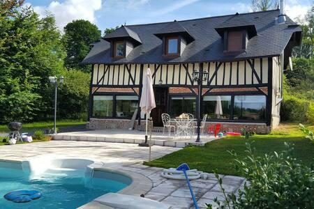 Maison Normande moderne av piscine - Bonneville-la-Louvet
