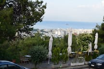 Coffe and bougatsa shop with ingradible view of he city- 2 minutes walking distance