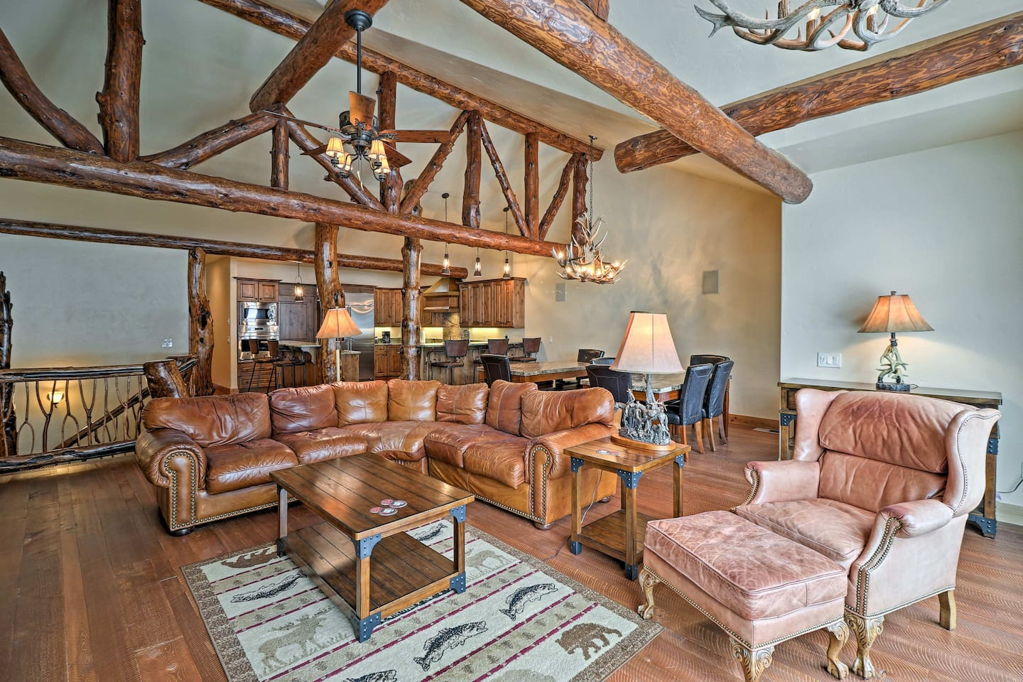Explore the scenic Glacier Country from this custom-built home in Whitefish.