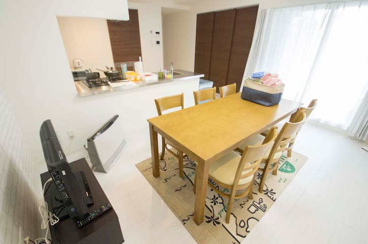 Stylish suite/Wifi/Free Parking A1(7guests) - Chūō-ku, Sapporo-shi - Flat