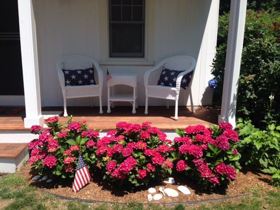 Small sitting area on front porch