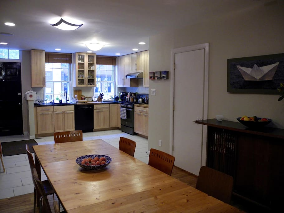 large kitchen/dining room
