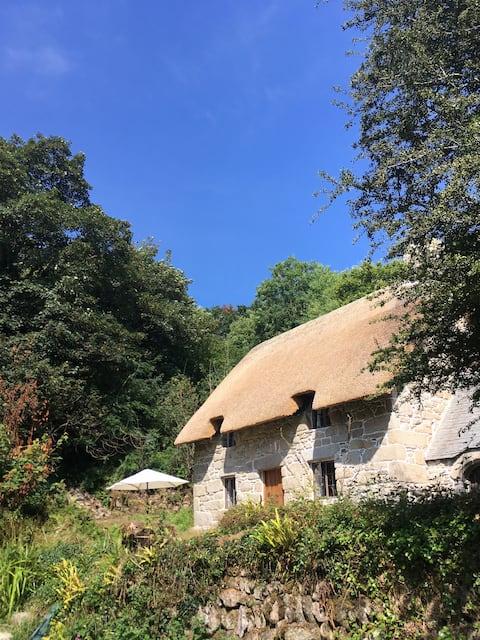 Mellinzeath cornish thatched cottage.