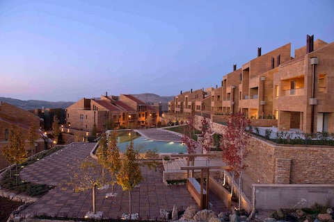 1 BR Chalet with Panoramic View - Faqra (Oakridge)