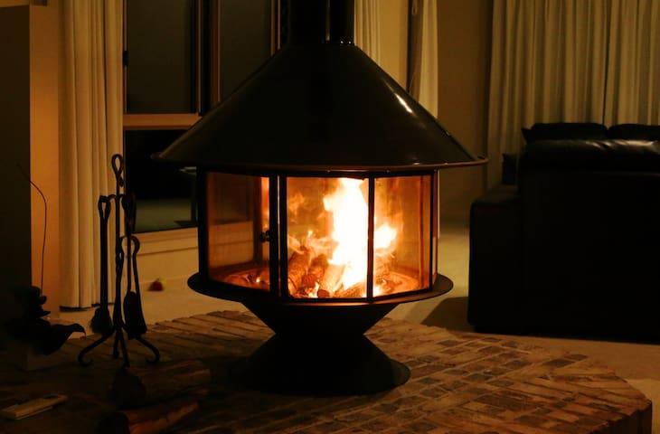 Enjoy the log fire for a cozy winter evening