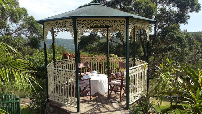 Afternoon tea in the gazebo