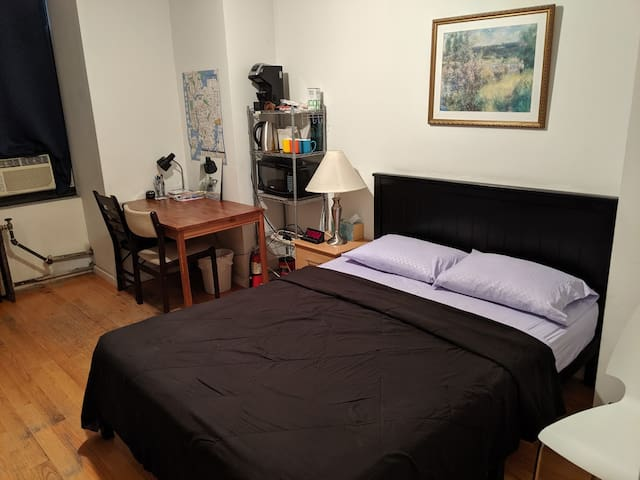NYC Prime Location Bedroom, directly above Subway!