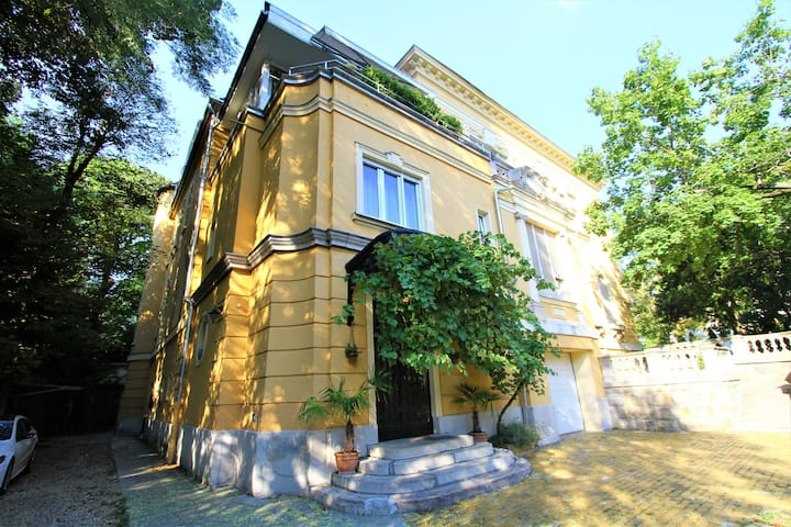 Lovely apt. in a historical villa, close to Castle