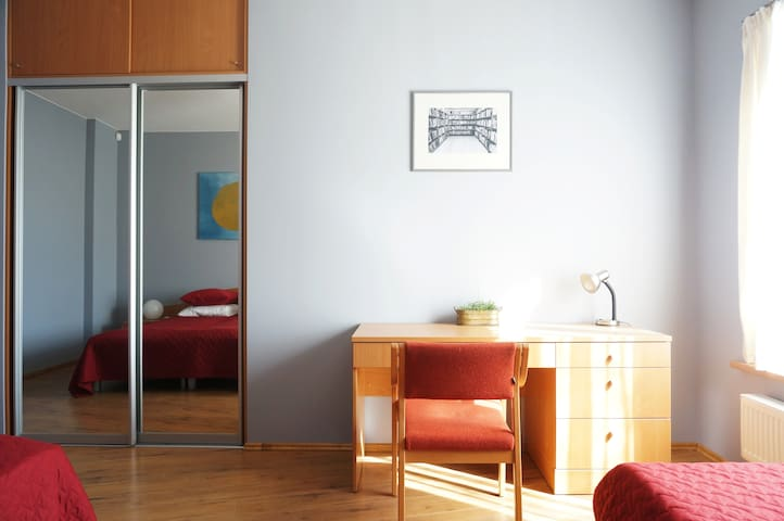 Bedroom with morning sun