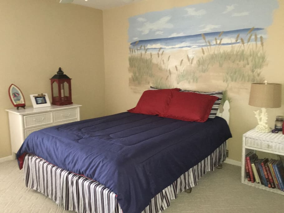 Your Bedroom with Beautifully Painted Wall Mural.