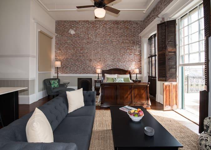 Romantic Studio Loft with Private Balcony on Historic Strand Street! | Strand View with Balcony