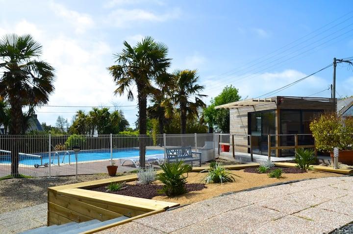 Appartement 5 personnes, 1 chambre, piscine, clim.