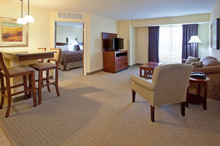 Fully-Equipped Suite | Indoor Pool + Free Wi-Fi, Free Breakfast