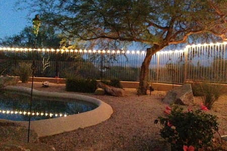 Loaded guest house w/views and pool - Fountain Hills - Huis