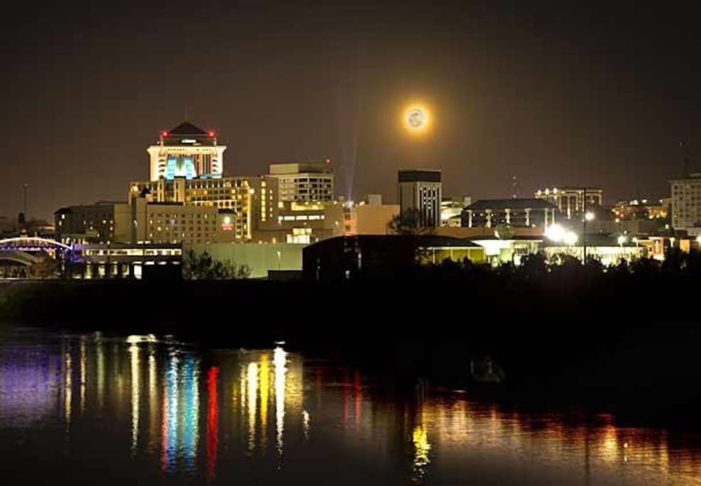 Night time view  of downtown Montgomery