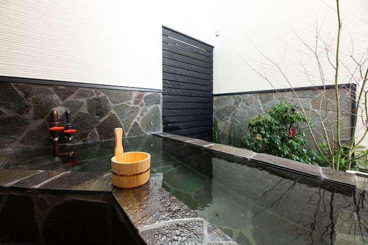 3 rooms! New house 【SORA】 with Hot spring♨☆6 mins from Beppu sta.