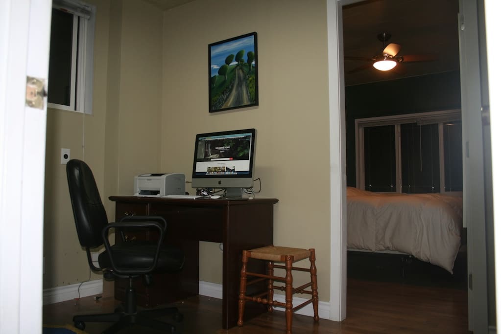 Office space outside bedroom.