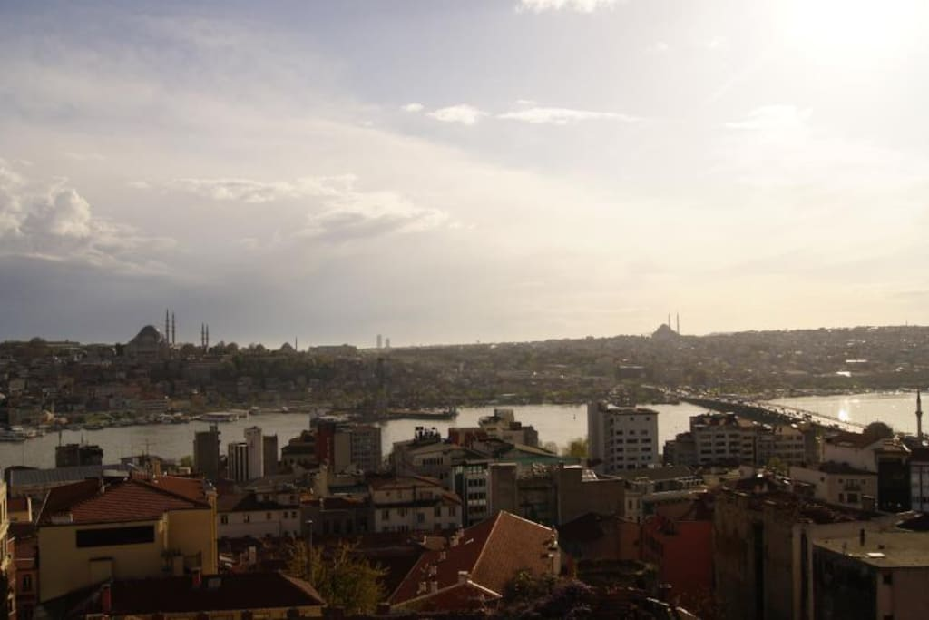 View of Golden Horn from the balcony