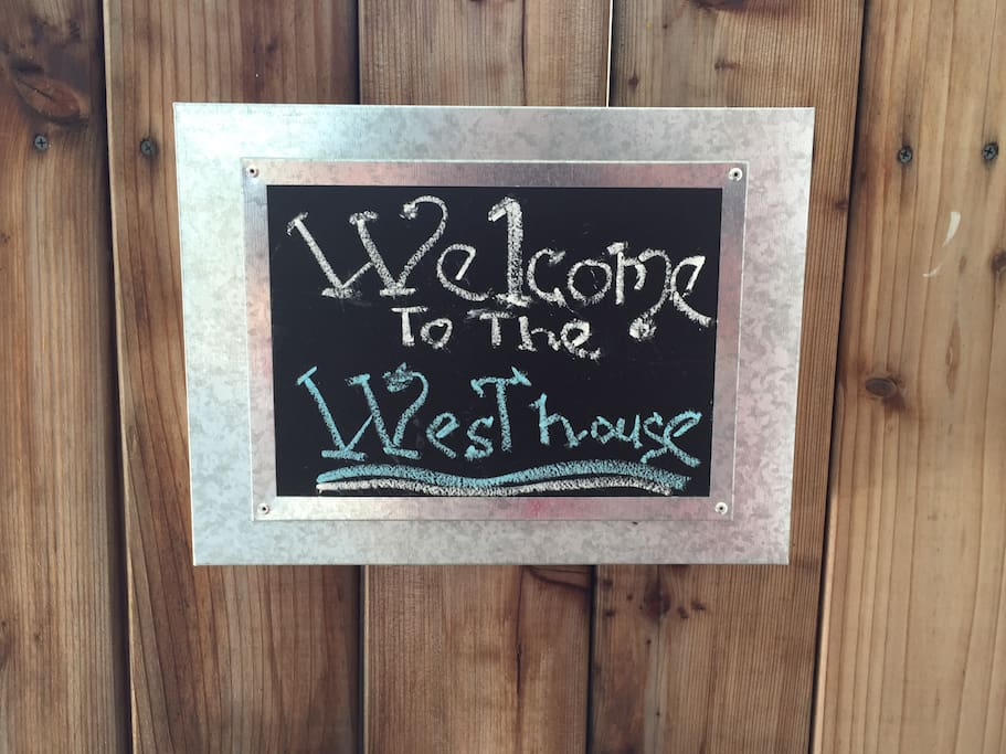 Welcome! When you see this sign you know you have arrived.
