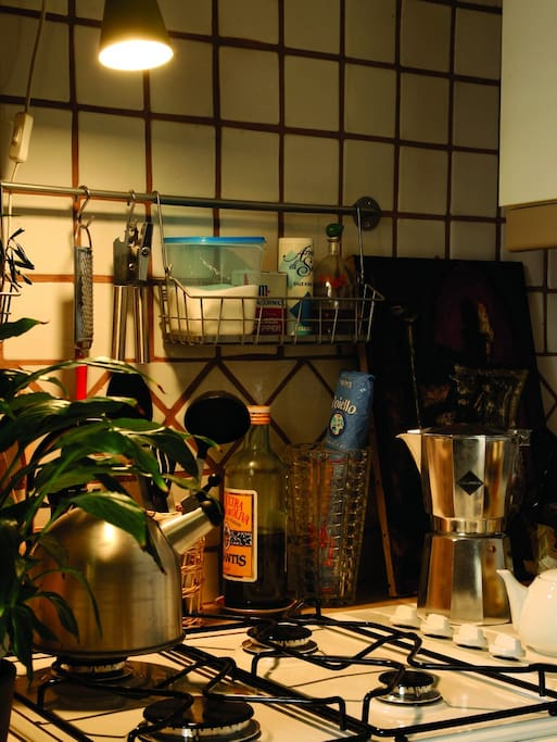 la cucina della stanza