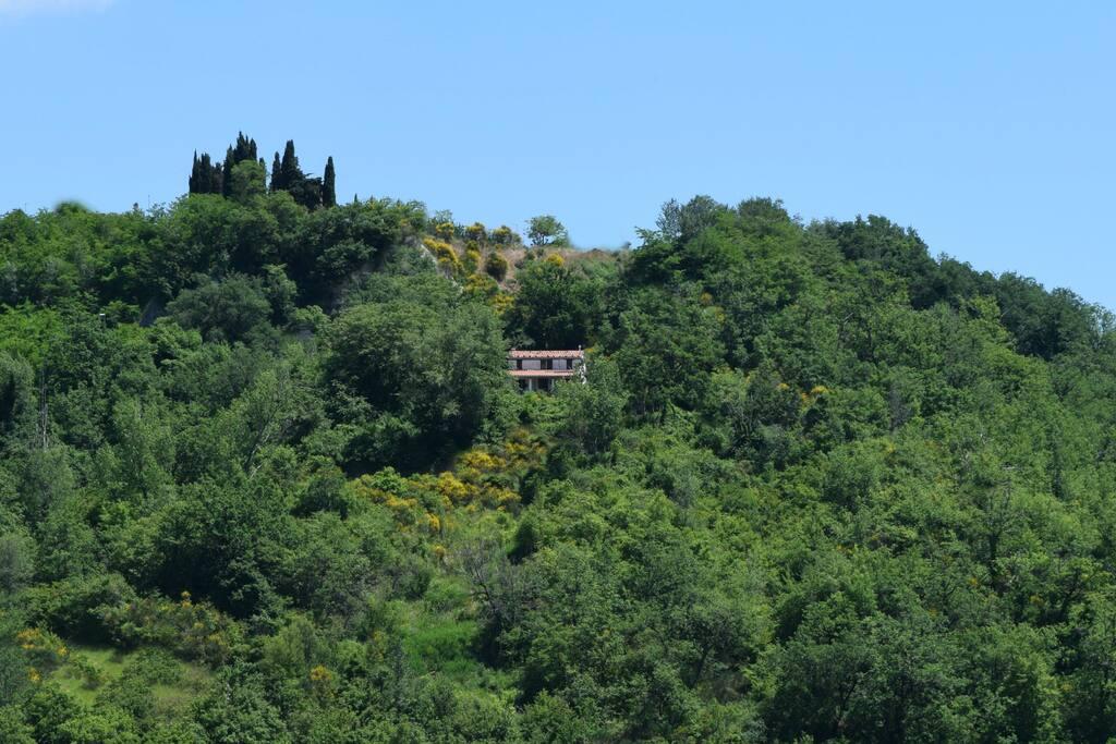 Casa Ripe nestled in the valley.