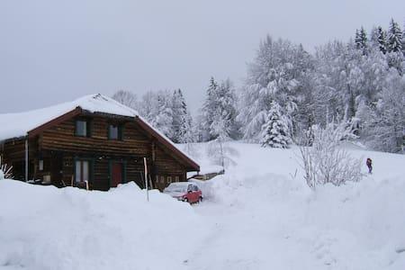 Maison en bois ronds - La Pesse - Maison