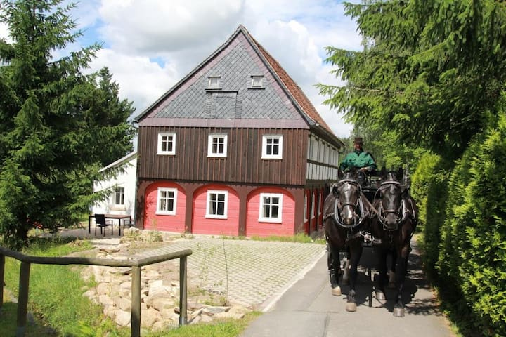 Oberlausitz Ferienhaus Gebirgshäusl - Jonsdorf - Hus