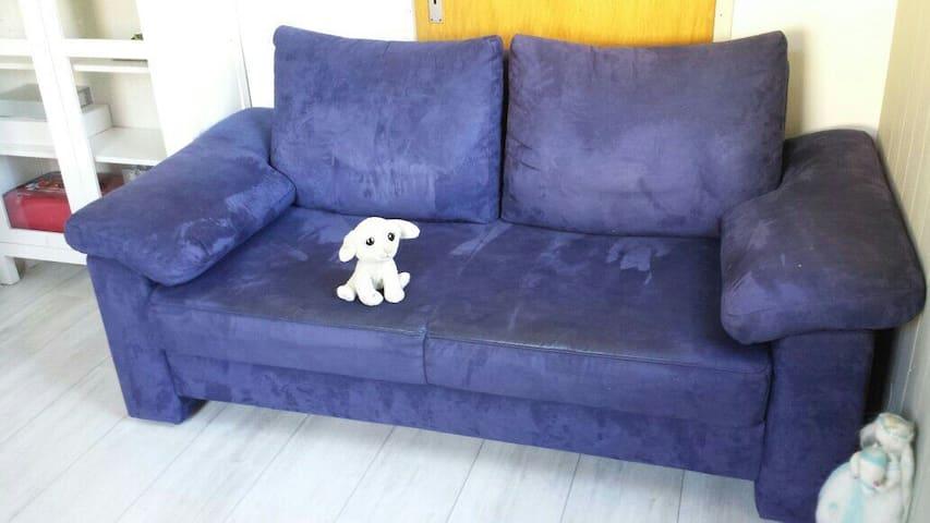 Schlafsofa in gemütlichem Zimmer  - Schwäbisch Gmünd - Appartement