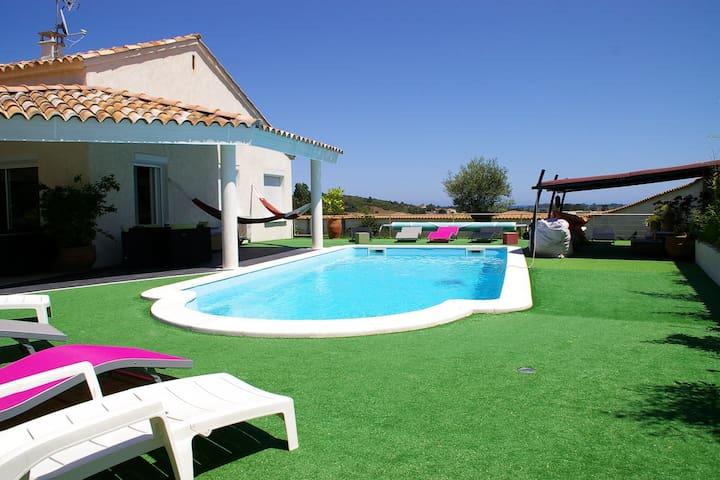 Magnifique villa 6p.piscine vue mer - Aleria - Villa