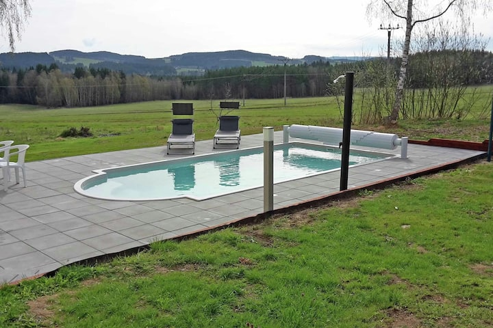 Spacious Holiday Home in Žlábek with Sauna and Swimming Pool