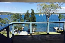 Magnificent view of lake from deck