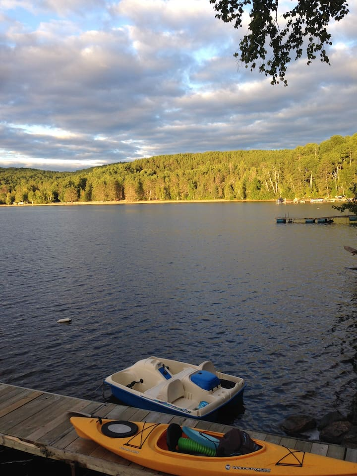 view from deck of boathouse