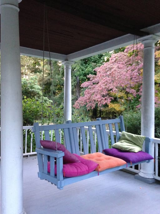 The porch swing beckons.