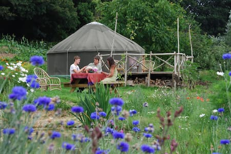 yurt on an ecosmallholding  - Iurta