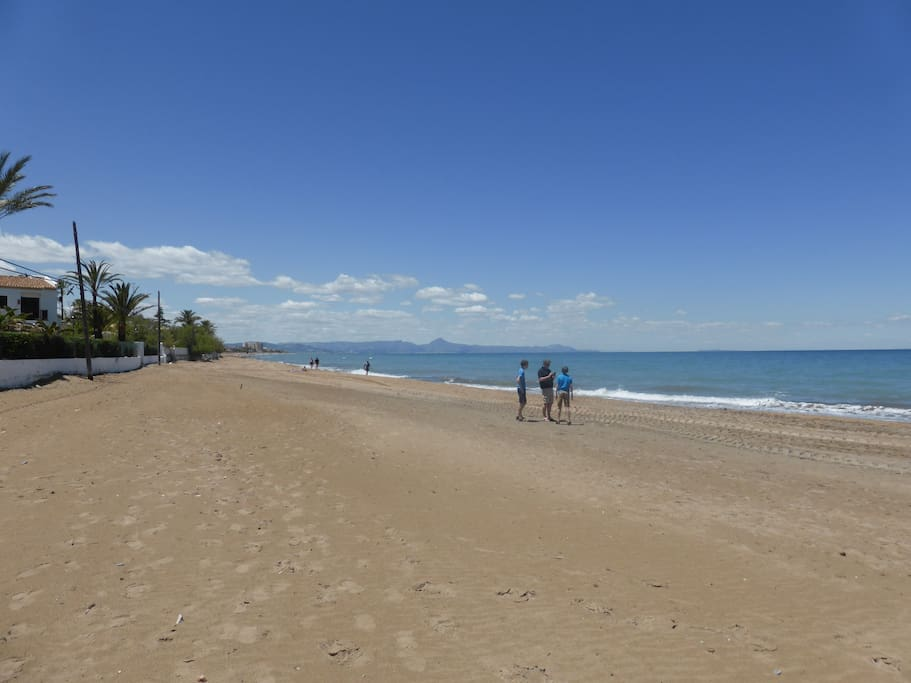 This beach is 2 mins walk away, part of Denia's 20km stretch of beach, sandy and rarely crowded