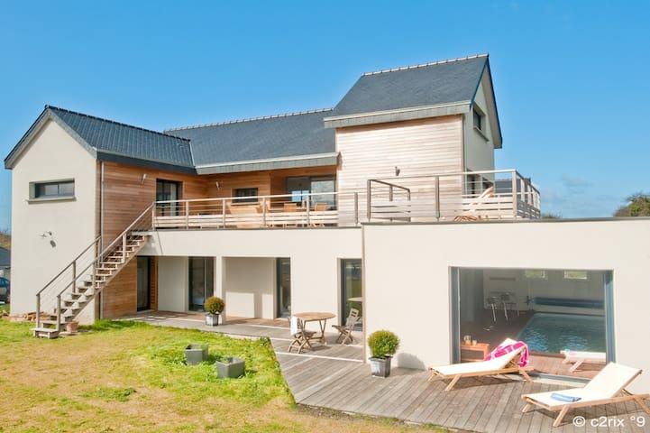Villa architecte piscine intérieure privée 13 pers - Saint-Cast-le-Guildo - Villa