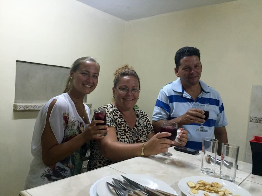 The lively Host (middle) who speaks Spanish and English