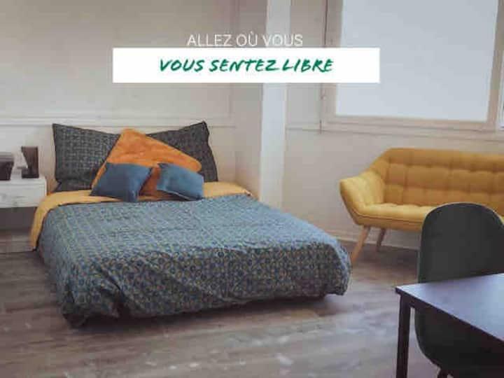Chambre COSY  BUREAU +WIFI à 35' de Paris