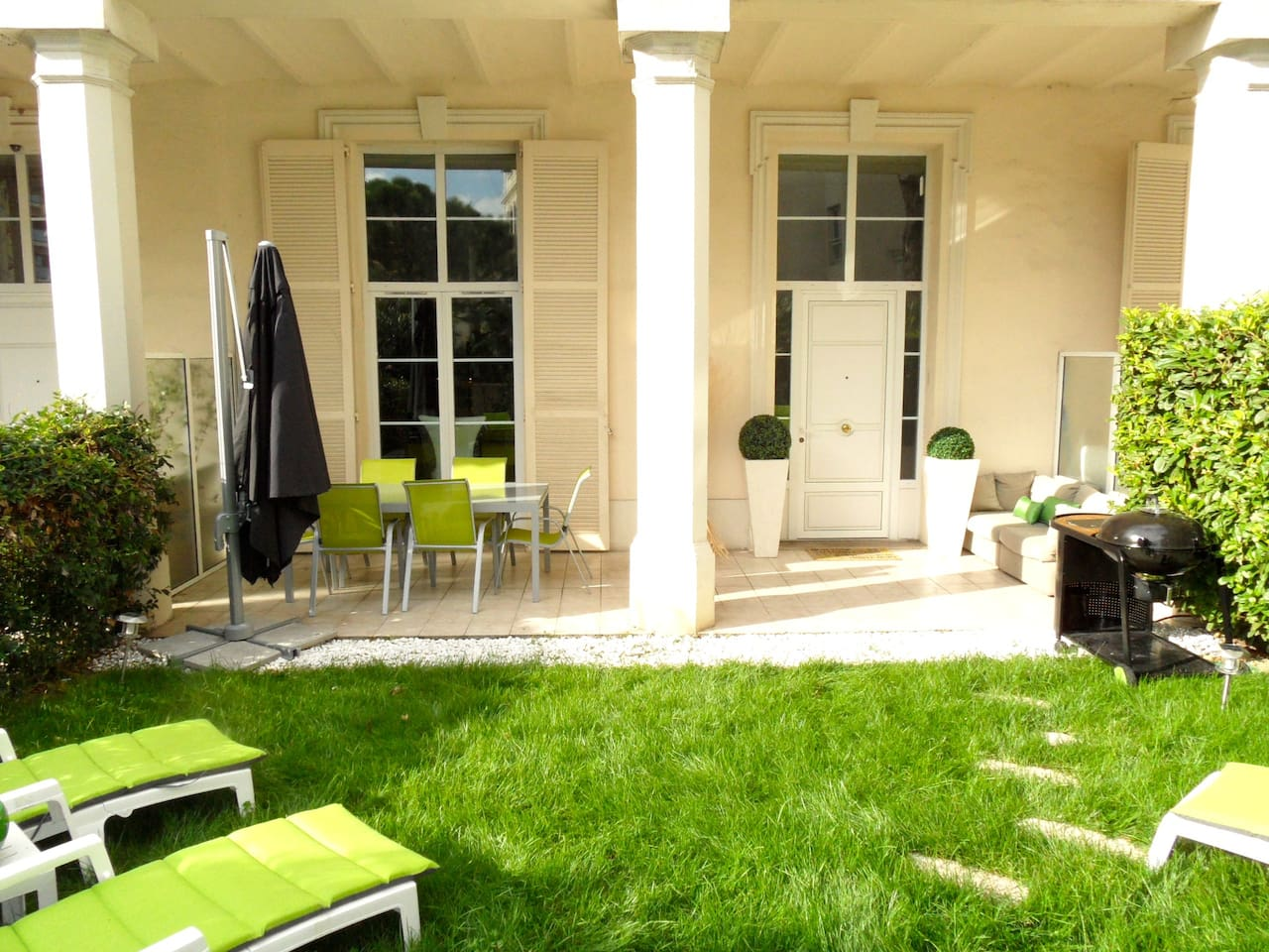 Your lovely garden and relaxing area