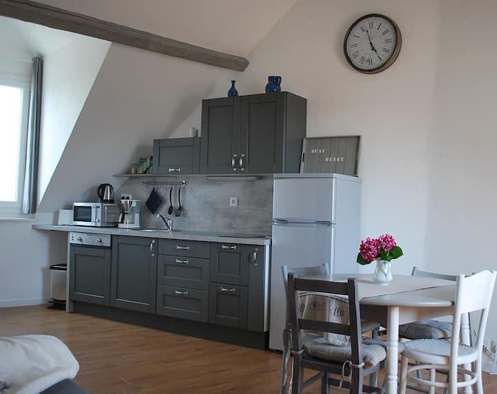 Symp-attic 2 rooms Honfleur heart
