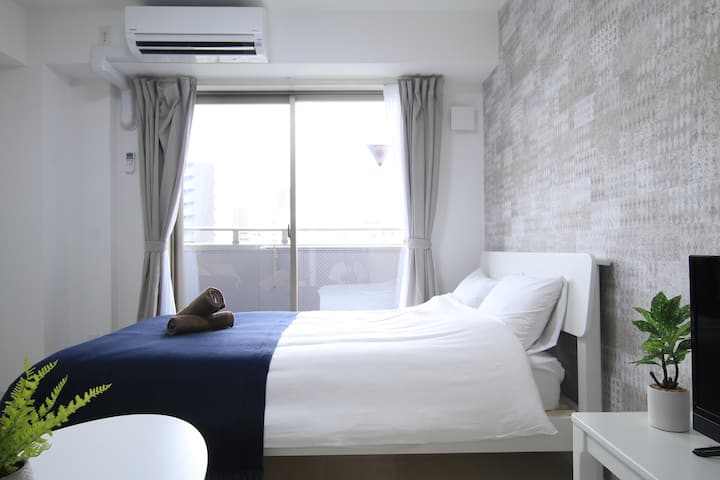 JR-6mins walk☆New-built Hotel☆USJ-5mins☆Umeda.Kobe
