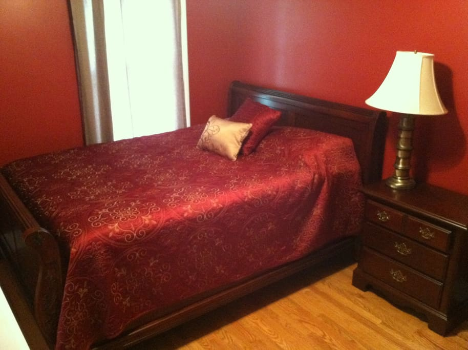Your private room with queen bed.