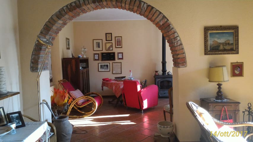 Private room in country-house/garden view/Wi-Fi