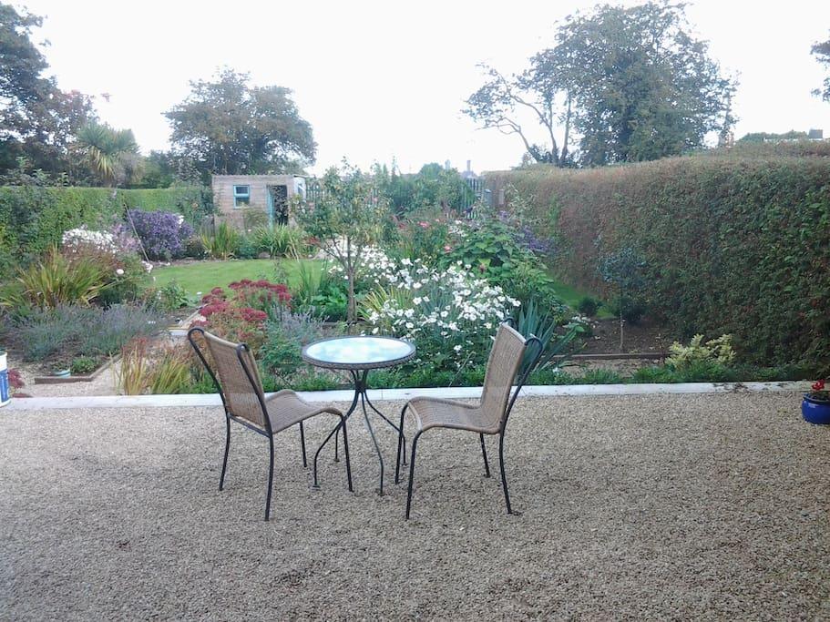 Breakfast in the garden weather permitting...