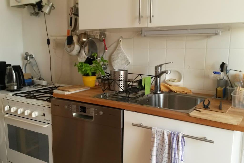 Küche, Spüle, Herd, Spülmaschine